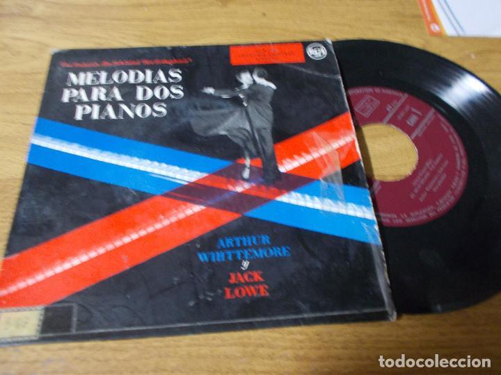 MELODIAS PARA DOS PIANOS, ARTHUR WHITTEMORE Y JACK LOWE. EL MURCIELAGO, TRES VALSES. (Música - Discos de Vinilo - EPs - Otros estilos)