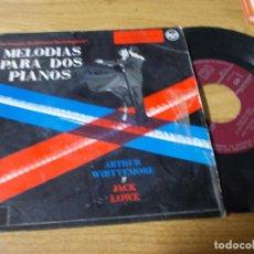 Discos de vinilo: MELODIAS PARA DOS PIANOS, ARTHUR WHITTEMORE Y JACK LOWE. EL MURCIELAGO, TRES VALSES.. Lote 68972741