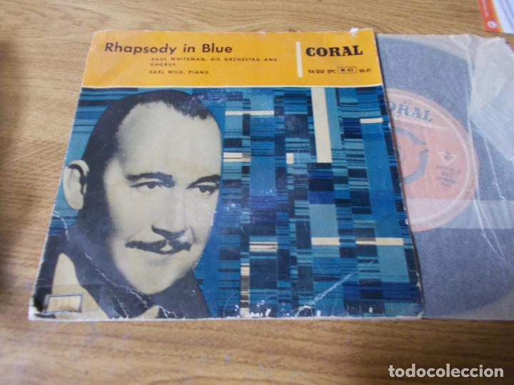 PAUL WHITEMAN. RHAPSODY IN BLUE (Música - Discos de Vinilo - EPs - Orquestas)