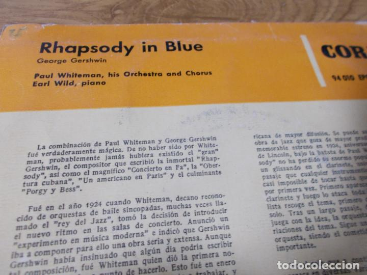 Discos de vinilo: PAUL WHITEMAN. RHAPSODY IN BLUE - Foto 3 - 68973013