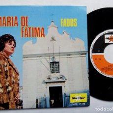 Discos de vinilo: MARÍA DE FÁTIMA. FADOS. EP MARFER MEL. 2-176. ESPAÑA 1970. FADO PORTUGAL.. Lote 68990481