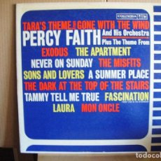 Discos de vinilo: PERCY FAITH ---- TARA´S THEME FROM GONE WITH THE WIND. Lote 68997825