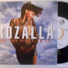 Disques de vinyle: ROZALLA-SINGLE ARE YOU READY TO FLY-PROMO 1992. Lote 69004341