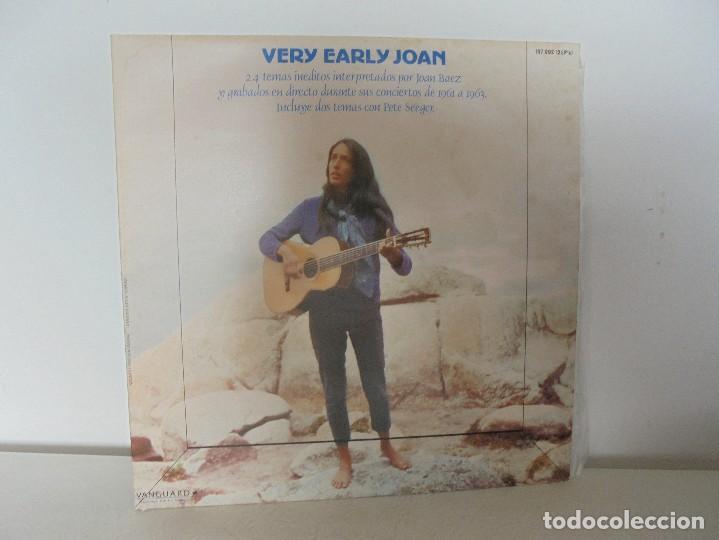 VERY EARLY JOAN. JOAN BAEZ. HISPAVOX 1983. VER FOTOGRAFIAS ADJUNTAS. DOBLE LP. (Música - Discos - Singles Vinilo - Cantautores Extranjeros)