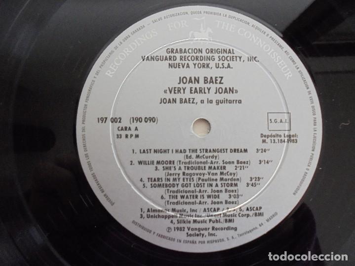 Discos de vinilo: VERY EARLY JOAN. JOAN BAEZ. HISPAVOX 1983. VER FOTOGRAFIAS ADJUNTAS. DOBLE LP. - Foto 5 - 69005101