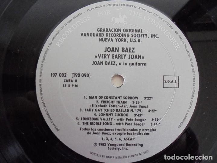 Discos de vinilo: VERY EARLY JOAN. JOAN BAEZ. HISPAVOX 1983. VER FOTOGRAFIAS ADJUNTAS. DOBLE LP. - Foto 7 - 69005101