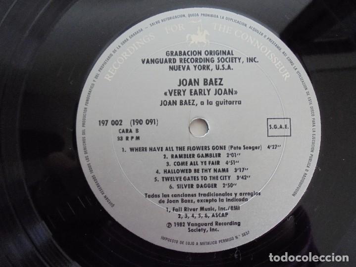 Discos de vinilo: VERY EARLY JOAN. JOAN BAEZ. HISPAVOX 1983. VER FOTOGRAFIAS ADJUNTAS. DOBLE LP. - Foto 11 - 69005101