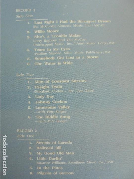 Discos de vinilo: VERY EARLY JOAN. JOAN BAEZ. HISPAVOX 1983. VER FOTOGRAFIAS ADJUNTAS. DOBLE LP. - Foto 12 - 69005101