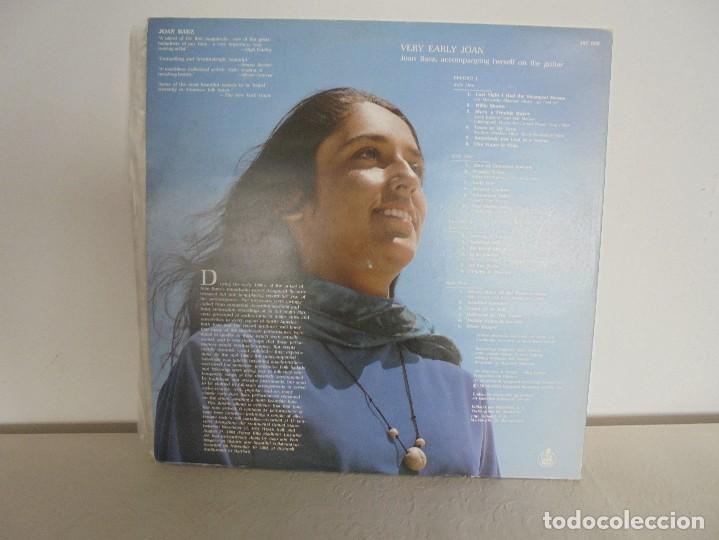 Discos de vinilo: VERY EARLY JOAN. JOAN BAEZ. HISPAVOX 1983. VER FOTOGRAFIAS ADJUNTAS. DOBLE LP. - Foto 15 - 69005101