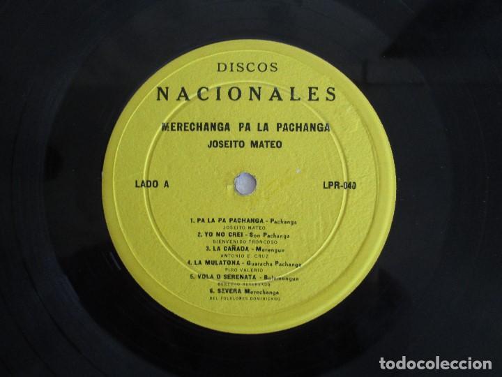 Discos de vinilo: MERECHANGA PA LA PACHANGA. JOSEITO MATEO CON LA SUPER ORQUESTA SAN JOSE - Foto 4 - 69008257