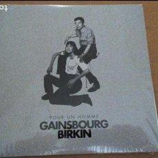 Disques de vinyle: GAINSBOURG BIRKIN POUR UN HOMME SINGLE PROMO UNA CARA SOLO PRECINTADO¡¡. Lote 86677986