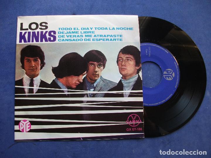 THE KINKS TODO EL DIA Y TODA LA NOCHE+3 EP MEJICO PDELUXE (Música - Discos de Vinilo - EPs - Pop - Rock Internacional de los 70)