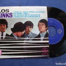 Discos de vinilo: THE KINKS TODO EL DIA Y TODA LA NOCHE+3 EP MEJICO PDELUXE. Lote 69014533