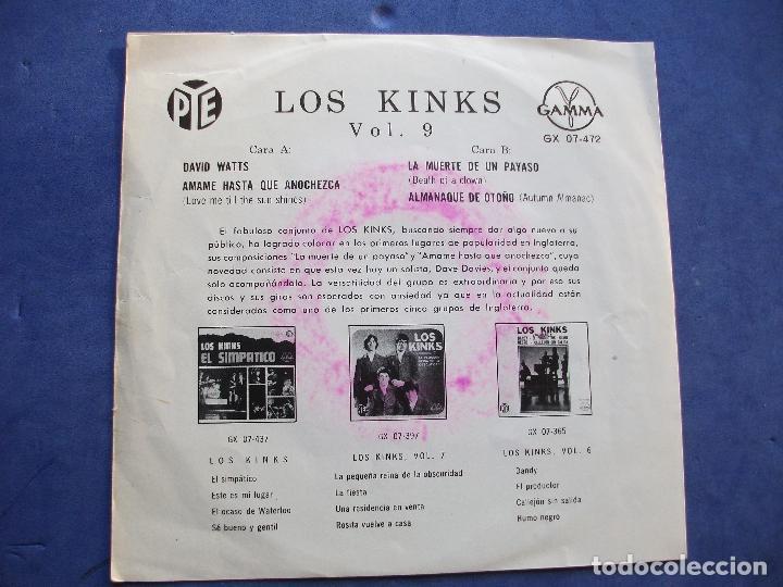 Discos de vinilo: THE KINKS DAVID WATTS + 3 EP MEJICO PDELUXE - Foto 2 - 69015157
