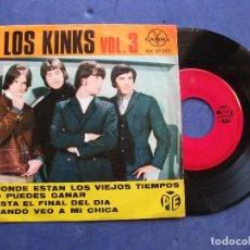 Discos de vinilo: THE KINKS HASTA EL FINL DEL DIA + 3 EP MEJICO PDELUXE. Lote 69015373