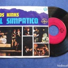 Discos de vinilo: THE KINKS EL SIMPATICO + 3 EP MEJICO PDELUXE. Lote 69015565