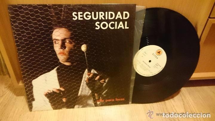 SEGURIDAD SOCIAL - ...SOLO PARA LOCOS (CITRA, CTR-MNL-34, 12'', MINIALBUM , 1985) TOP COPY!!! (Música - Discos - LP Vinilo - Punk - Hard Core)