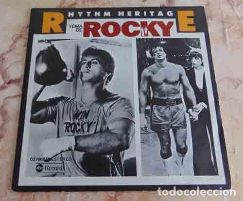 RHYTHM HERITAGE – TEMA DE ROCKY - SINGLE 1977 (Música - Discos - Singles Vinilo - Bandas Sonoras y Actores)