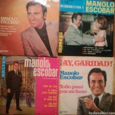 Discos de vinilo: LOTE 4 SINGLES MANOLO ESCOBAR. Lote 69022541