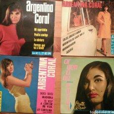 Discos de vinilo: LOTE 4 SINGLES ARGENTINA CORAL. Lote 69023943