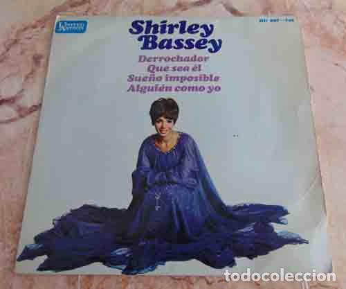 SHIRLEY BASSEY – DERROCHADOR + 3 - EP 1967 (Música - Discos de Vinilo - EPs - Pop - Rock Extranjero de los 70)