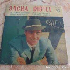 Discos de vinilo: SACHA DISTEL – MI BONITO SOMBRERO / DIGA UD. A LA ORQUESTA... / LOS SOLTERONES / MONSIEUR L'BARON. Lote 69029597