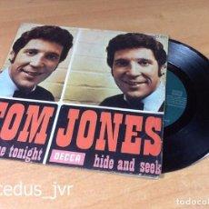 Discos de vinilo: TOM JONES - LOVE TONIGHT HIDE AND SEEK DISCO VINILO VINYL DISC LP ALBUM - SAN SEBASTIAN 1969. Lote 69039833