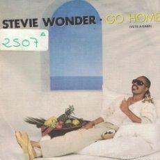 Dischi in vinile: STEVIE WONDER - GO HOME / INSTRUMENTAL VERSION (SINGLE ESPAÑOL DE 1985). Lote 69058357