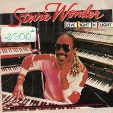 Dischi in vinile: STEVIE WONDER - LOVE LIGHT IN FLIGHT / IT'S MORE THAN YOU (SINGLE ESPAÑOL DE 1984). Lote 69059025