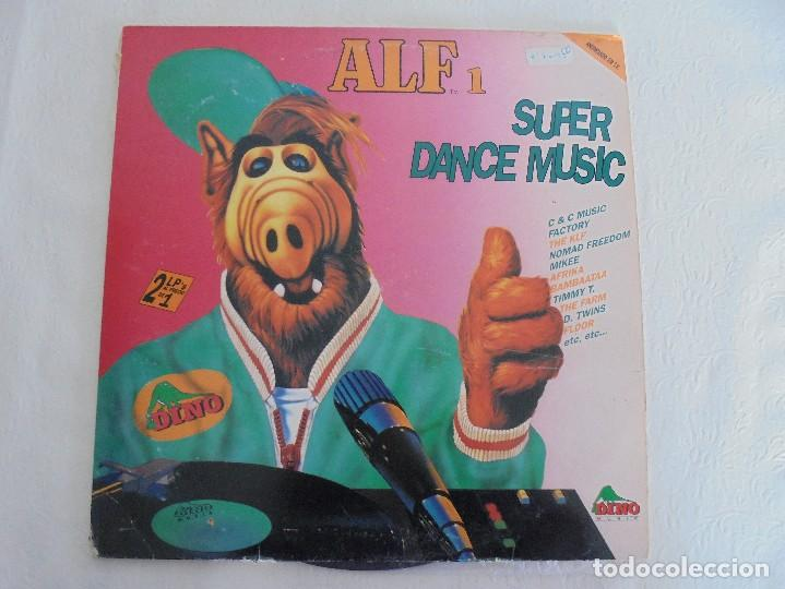 Discos de vinilo: ALF 1. SUPER DANCE MUSIC. DOS DISCOS VINILO. DINO MUIC 1991. VER FOTOGRAFIAS ADJUNTAS - Foto 2 - 69082993