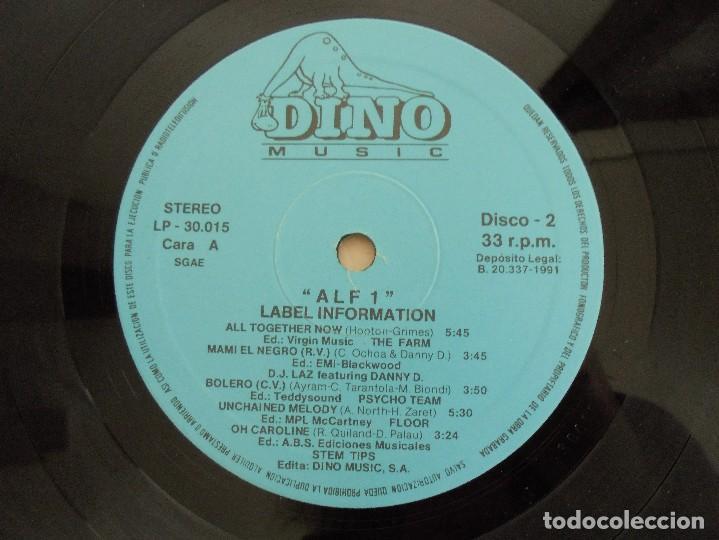 Discos de vinilo: ALF 1. SUPER DANCE MUSIC. DOS DISCOS VINILO. DINO MUIC 1991. VER FOTOGRAFIAS ADJUNTAS - Foto 8 - 69082993