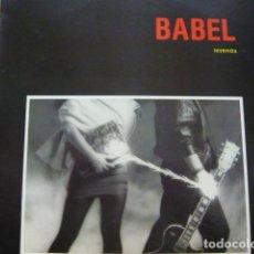 Discos de vinilo: BABEL. LEYENDA. SNIF LD-18.016 LP 1987 SPAIN. Lote 69083093