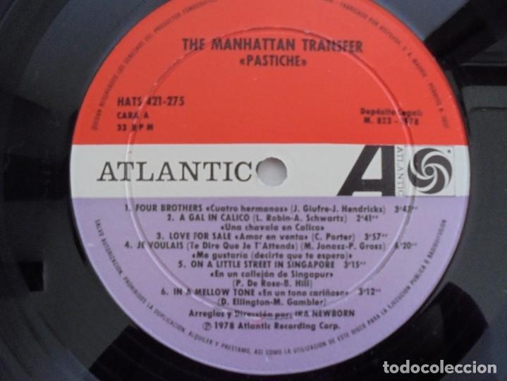 Discos de vinilo: THE MANHATTAN TRANSFER. PASTICHE. 1978. VER FOTOGRAFIAS ADJUNTAS - Foto 4 - 69083609