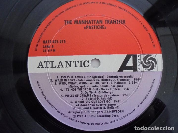 Discos de vinilo: THE MANHATTAN TRANSFER. PASTICHE. 1978. VER FOTOGRAFIAS ADJUNTAS - Foto 6 - 69083609