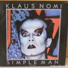 Discos de vinilo: KLAUS NOMI - SIMPLE MAN R C A - 1982. Lote 69086045