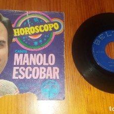 Discos de vinilo: DISCO VINILO ANTIGUO DE MÚSICA CANTA MANOLO ESCOBAR HOROSCOPO . Lote 69109257
