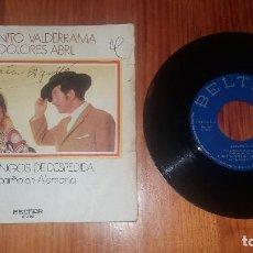 Discos de vinilo: DISCO VINILO DE MÚSICA JUANITO VALDERRAMA Y DOLORES ABRIL FANDANGOS DESPEDIDA MI CARIÑO EN ALEMANIA. Lote 69112433