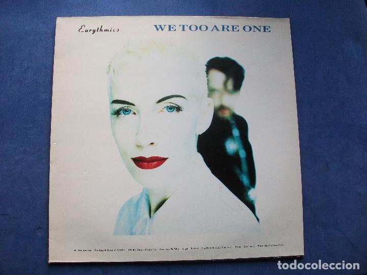 EURYTHMICS WE TOO ARE ONE LP SPAIN 1989 PDELUXE (Música - Discos - LP Vinilo - Pop - Rock - New Wave Extranjero de los 80)