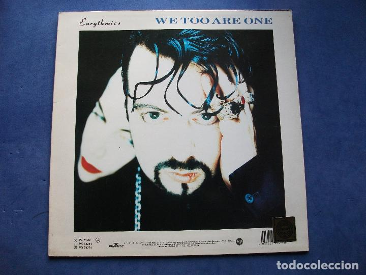 Discos de vinilo: EURYTHMICS WE TOO ARE ONE LP SPAIN 1989 PDELUXE - Foto 2 - 69113317