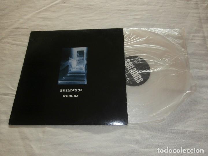 BUILDINGS MX NERUDA / UNTITLED (1987) *NUEVO* CON ENCARTES **VINILO TRANSPARENTE** VER FOTOS (Música - Discos de Vinilo - Maxi Singles - Grupos Españoles de los 70 y 80)