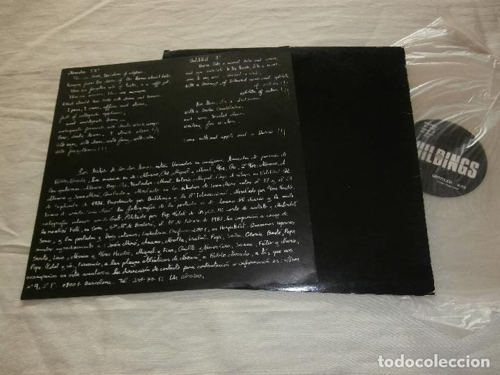 Discos de vinilo: BUILDINGS MX NERUDA / UNTITLED (1987) *NUEVO* CON ENCARTES **VINILO TRANSPARENTE** VER FOTOS - Foto 2 - 69130261