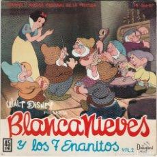 Discos de vinilo: BLANCANIEVES Y LOS 7 ENANITOS, VOL.2 (EP DISNEYLAND-HISPAVOX 1962 ESPAÑA) WALT DISNEY. Lote 69268541