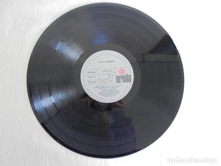 Discos de vinilo: PACO IBAÑEZ. A FLOR DE TIEMPO. ARIOLA-EURODISC 1979. VER FOTOGRAFIAS ADJUNTAS. - Foto 3 - 69273633