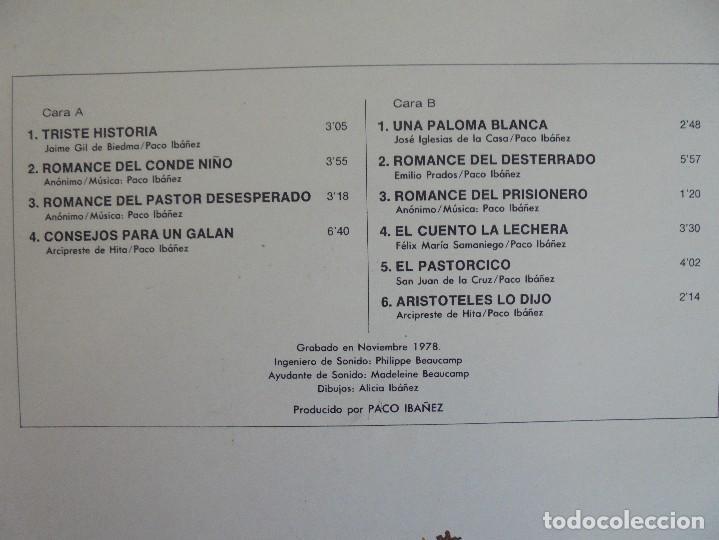Discos de vinilo: PACO IBAÑEZ. A FLOR DE TIEMPO. ARIOLA-EURODISC 1979. VER FOTOGRAFIAS ADJUNTAS. - Foto 7 - 69273633