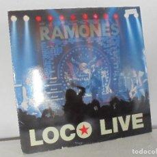 Discos de vinilo: RAMONES. LOCO LIVE. EMI ODEON 1991. VER FOTOGRAFIAS ADJUNTAS. LP.. Lote 69274553