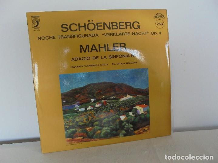 SCHOENBERG. NOCHE TRANSFIGURADA. MAHLER. ADAGIO DE LA SINFONIA Nº 10. SUPRAPHON 1978. (Música - Discos - Singles Vinilo - Clásica, Ópera, Zarzuela y Marchas)