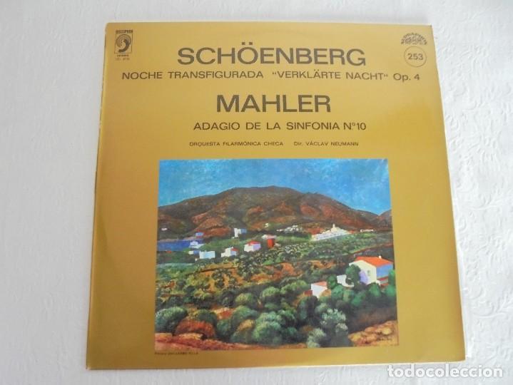 Discos de vinilo: SCHOENBERG. NOCHE TRANSFIGURADA. MAHLER. ADAGIO DE LA SINFONIA Nº 10. SUPRAPHON 1978. - Foto 2 - 69278137