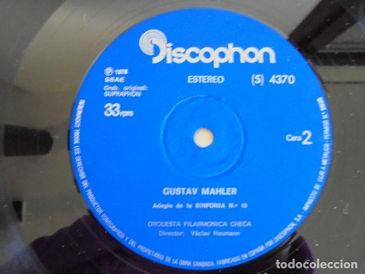 Discos de vinilo: SCHOENBERG. NOCHE TRANSFIGURADA. MAHLER. ADAGIO DE LA SINFONIA Nº 10. SUPRAPHON 1978. - Foto 6 - 69278137