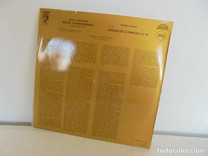 Discos de vinilo: SCHOENBERG. NOCHE TRANSFIGURADA. MAHLER. ADAGIO DE LA SINFONIA Nº 10. SUPRAPHON 1978. - Foto 8 - 69278137