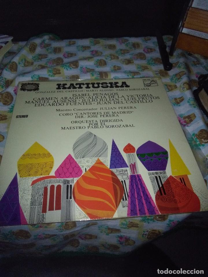 KATIUSKA. GONZALEZ DEL CASTILLO. MARTI ALONSO PABLO SOROZABAL. C6V (Música - Discos - LP Vinilo - Clásica, Ópera, Zarzuela y Marchas)